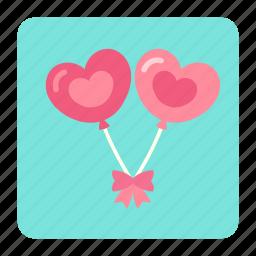 balloon, balloons, couple, heart, love, wedding, wedding balloon icon