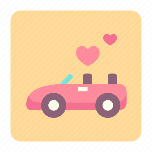 car, celebration, couple, love, marriage, married, wedding car icon