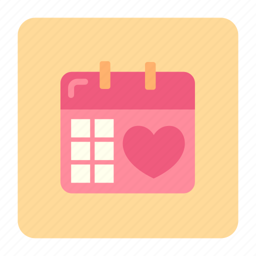 appointment, february, heart, love, valentine, wedding, wedding schedule icon