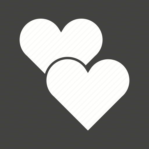 card, heart, hearts, love, red, shape, two icon