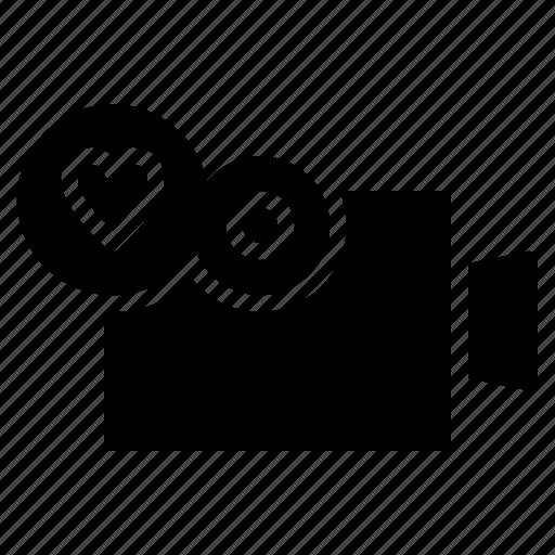 love, movie, record, video, wedding icon