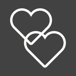 card, happy, heart, hearts, love, two, valentine icon