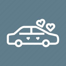 beautiful, beauty, car, decorated, decoration, flowers, wedding icon