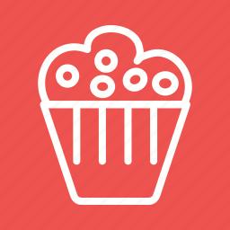 baked, birthday, cake, cupcake, cupcakes, party, sprinkles icon