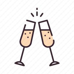 celebrate, celebration, champagne, cheers, drink, party, wine icon