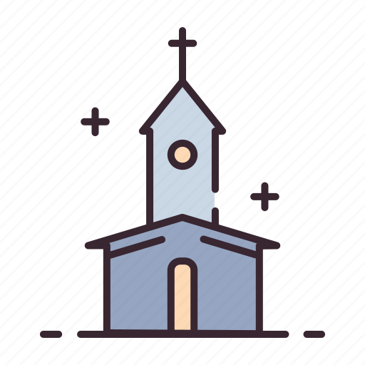 building, catholic, chapel, christian, church, religious, wedding icon