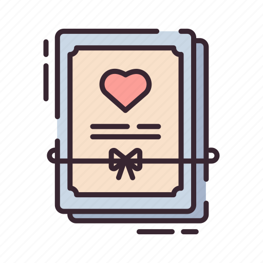 certificate, document, legal, license, marriage, relationship, wedding icon
