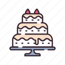 bakery, cake, celebrate, celebration, dessert, love, wedding icon
