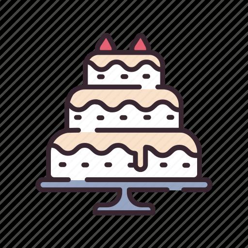bakery, cake, celebrate, celebration, dessert, love, wedding icon