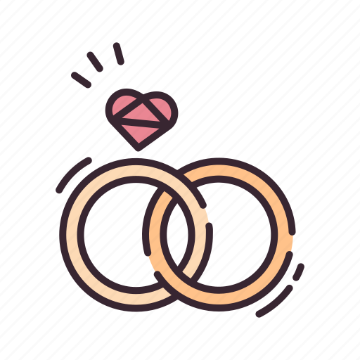 couple, engagement, jewelry, marriage, rings, wedding, wedding ring icon