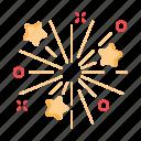ceremony, fireworks, light, star icon