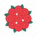 bouquet, bride, flower, rose icon