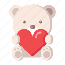 bear, heart, love, teddy, valentine icon