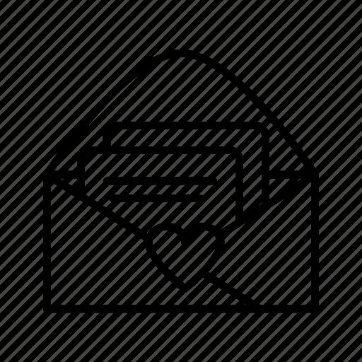 invitation, mail, message, rsvp icon
