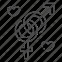 couple, female, gender, heterosexual, male, symbols, wedding icon