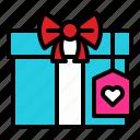gift, gift box, present, romantic, valentine