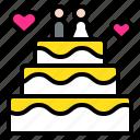 cake, dessert, romantic, sweets, valentine, wedding