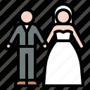bride, couple, groom, romantic, valentine, wedding