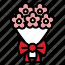 bouquet, floral, flower, romantic, valentine, wedding icon