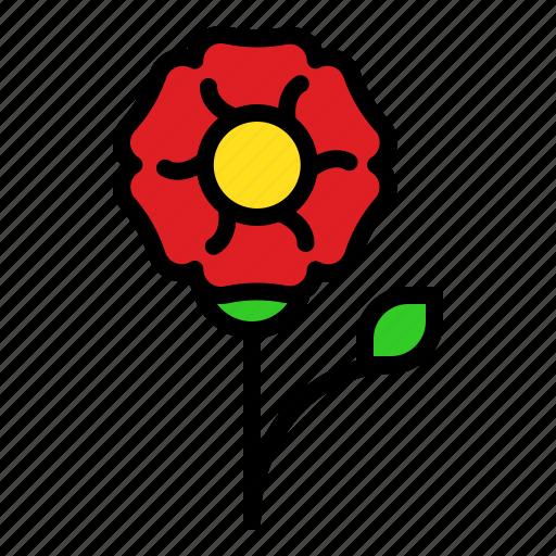 flora, floral, flower, romantic, valentine icon