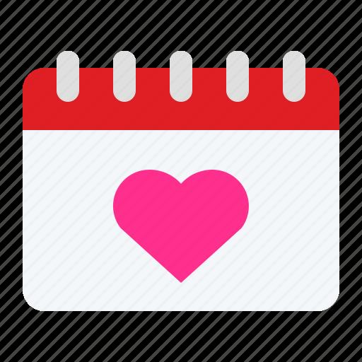 calendar, date, romantic, valentine, wedding icon