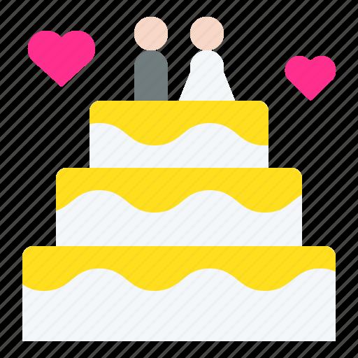 cake, dessert, love, romantic, sweets, valentine, wedding icon