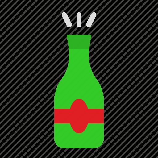 bottle, champagne, drinks, romantic, wine icon