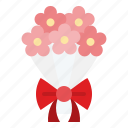 bouquet, floral, flower, romantic, valentine, wedding icon