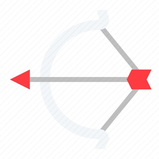 arrow, bow, cupid, weapon icon