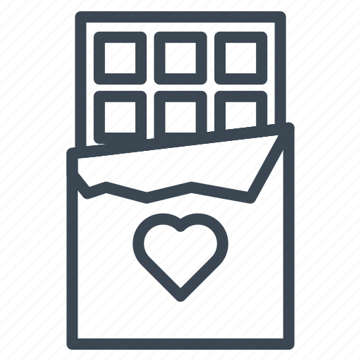 chocolate, gift, heart, valentine, wedding icon