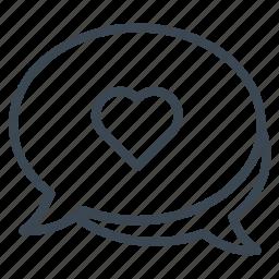 chat, lover, message, speech, talking, wedding icon