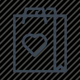 bag, hangout, heart, shopping, tote, wedding icon