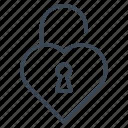 heart, lock, pick, valentine, wedding icon