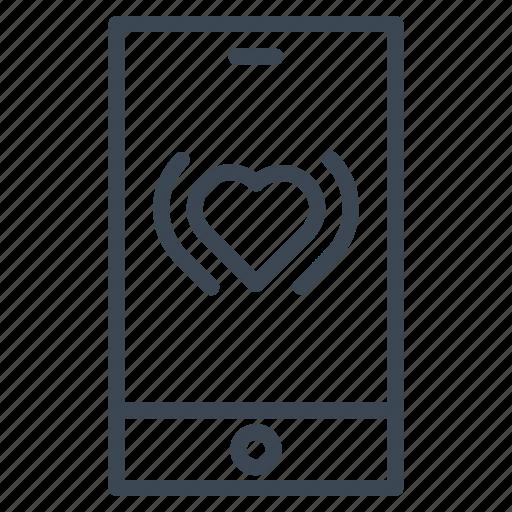 call, romantic, telephone, valentine, wedding icon