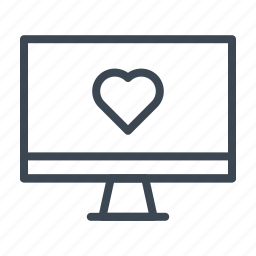 monitor, online dating, social media, wedding icon