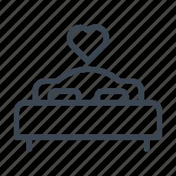 honeymoon, hotel, service, wedding icon