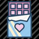 chocolate, dating, gift, valentine, wedding icon