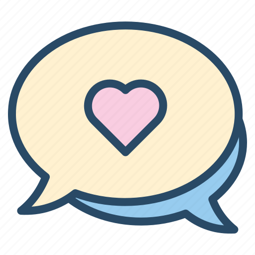 chat, heart, lover, message, smartphone, talk, wedding icon