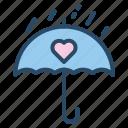 rain, romantic, umbrella, wedding icon