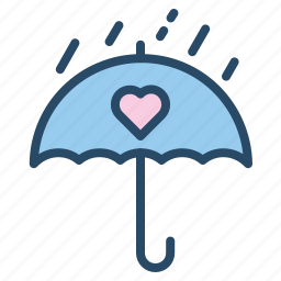 rain, romantic, umbrella, wedding icon