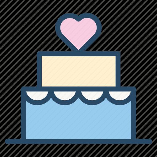 bakery, birthday, cake, sweet, tart, valentine, wedding icon