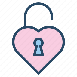 heart, lock, protection, secure, valentine, wedding icon