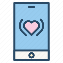 call, iphone, love, smartphone, telephone, valentine, wedding icon