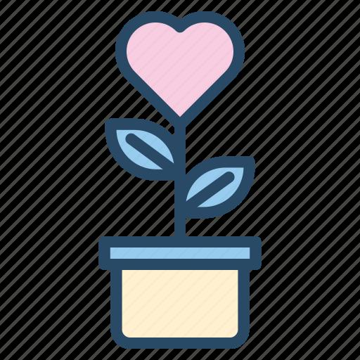 grow, love, plant, romantic, wedding icon