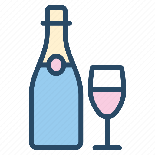 beverage, champagne, drink, food, wedding, wine icon