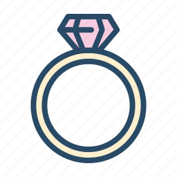 amour, diamond, jewelry, ring, valentine, wedding icon