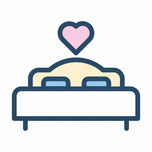 honey moon, hotel, love, service, sleep, wedding icon