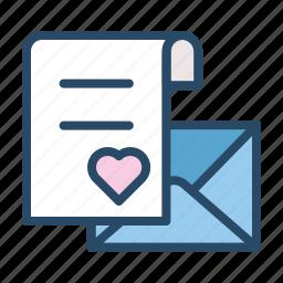 email, envelope, inbox, invitation, letter, love letter, wedding icon