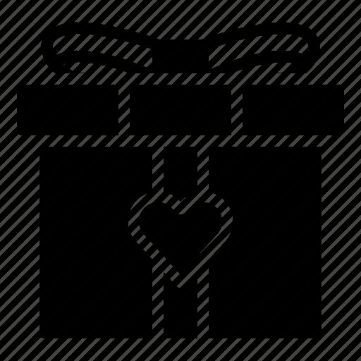 Gift, heart, love, present, romance, valentine, wedding icon - Download on Iconfinder