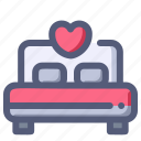 bed, hotel, love, married, wedding icon